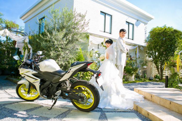 バイクと一緒に撮影!