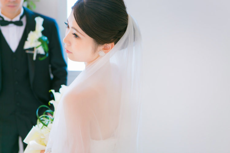 白ドレス*カラードレスで撮影